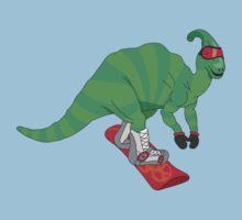 Snowboardosaur Baby Tee