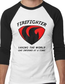 Firefighter Men's Baseball ¾ T-Shirt