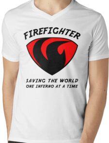 Firefighter Mens V-Neck T-Shirt