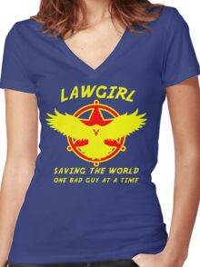 Lawgirl Women's Fitted V-Neck T-Shirt