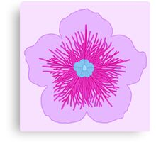 Pink and Blue Flower Canvas Print