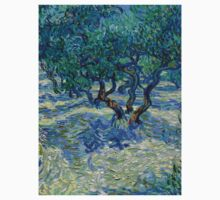 1889-Vincent van Gogh-Olive Grove-73,03x92,08 One Piece - Short Sleeve