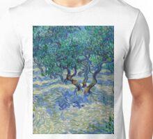 1889-Vincent van Gogh-Olive Grove-73,03x92,08 Unisex T-Shirt