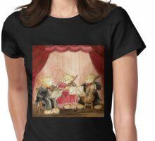 CUTE TEDDYBEARS IN CONCERT - A Famous Teddybear String Trio Womens Fitted T-Shirt