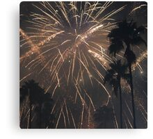Fireworks Over Hollywood Canvas Print