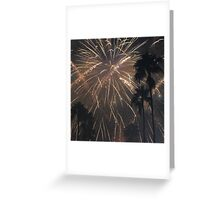 Fireworks Over Hollywood Greeting Card