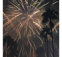 Fireworks Over Hollywood Photographic Print