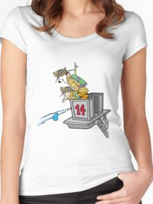 Boy and Kids Calvin and Hobbs Fireman Women's Fitted Scoop T-Shirt