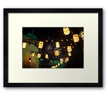 Lanterns and Fireworks Framed Print