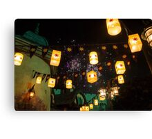 Lanterns and Fireworks Canvas Print