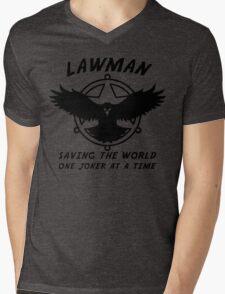Lawman Mens V-Neck T-Shirt