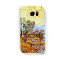 1889-Vincent van Gogh-Olive Trees with yellow sky and sun-73,66x92,71 Samsung Galaxy Case/Skin