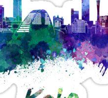 Kobe skyline in watercolor Sticker