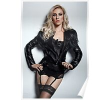 A Blonde In Leather Poster