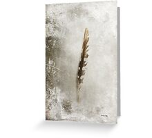 Standing Feather Greeting Card