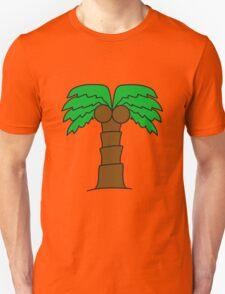 comic cartoon palm small sweet cute coconuts Unisex T-Shirt