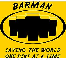 Barman Photographic Print