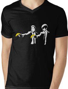 Banksy Pulp Fiction Mens V-Neck T-Shirt
