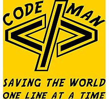 Codeman Photographic Print
