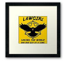 Lawgirl Framed Print