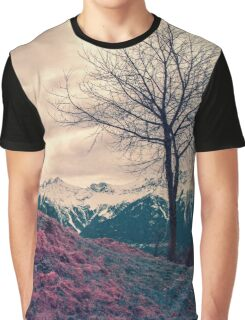 Japanese Mountains Graphic T-Shirt