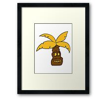 comic cartoon funny sweet small cute palm face, grinning monster Framed Print