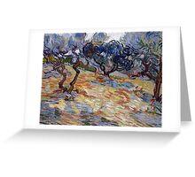 1889-Vincent van Gogh-Olive Trees-51x65,2 Greeting Card