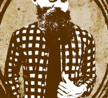 Ned Kelly the original hipster Sticker