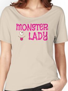 MONSTER LADY cute in pink Women's Relaxed Fit T-Shirt