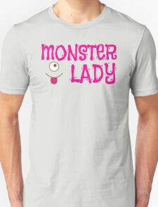 MONSTER LADY cute in pink T-Shirt