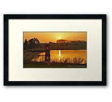 Sunset on Sywell Reservoir Framed Print