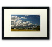 Cloudy sky  Framed Print