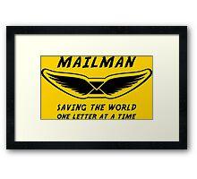 Mailman Framed Print