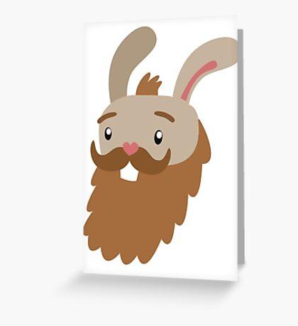 Bearded Bunny Greeting Card