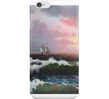 Sunset on open sea iPhone Case/Skin
