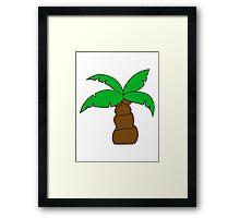 comic cartoon funny sweet small cute palm Framed Print