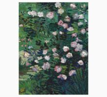 1889-Vincent van Gogh-Roses-33x41,3 One Piece - Short Sleeve