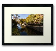 Slow Walk on the Towpath - a Fine Fall Day at the Chesapeake and Ohio Canal in Georgetown, Washington, DC Framed Print