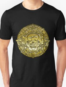 Gold Money pirate coin with a skull Unisex T-Shirt