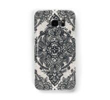 Charcoal Lace Pencil Doodle Samsung Galaxy Case/Skin