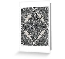 Charcoal Lace Pencil Doodle Greeting Card