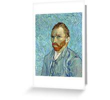 1889-Vincent van Gogh-Self-portrait-54x65 Greeting Card