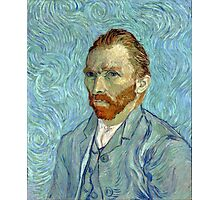 1889-Vincent van Gogh-Self-portrait-54x65 Photographic Print