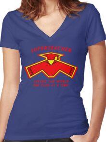 Superteacher Women's Fitted V-Neck T-Shirt