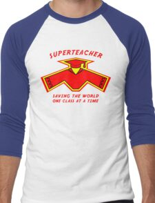 Superteacher Men's Baseball ¾ T-Shirt
