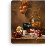 still life with bacon Canvas Print