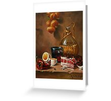 still life with bacon Greeting Card