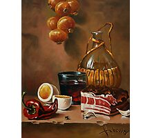 still life with bacon Photographic Print