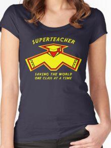 Superteacher Women's Fitted Scoop T-Shirt