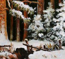 Winter in the woods Sticker
